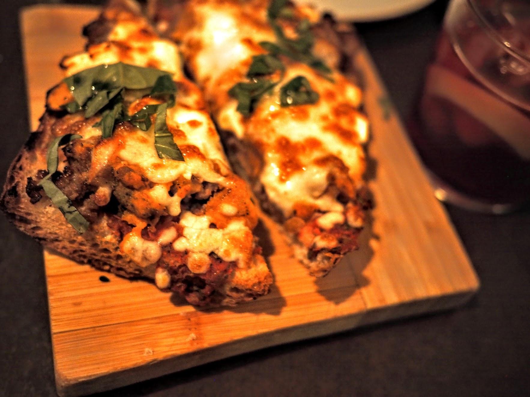 Rustic Pizza with sweet potato, feta, chorizo and basil